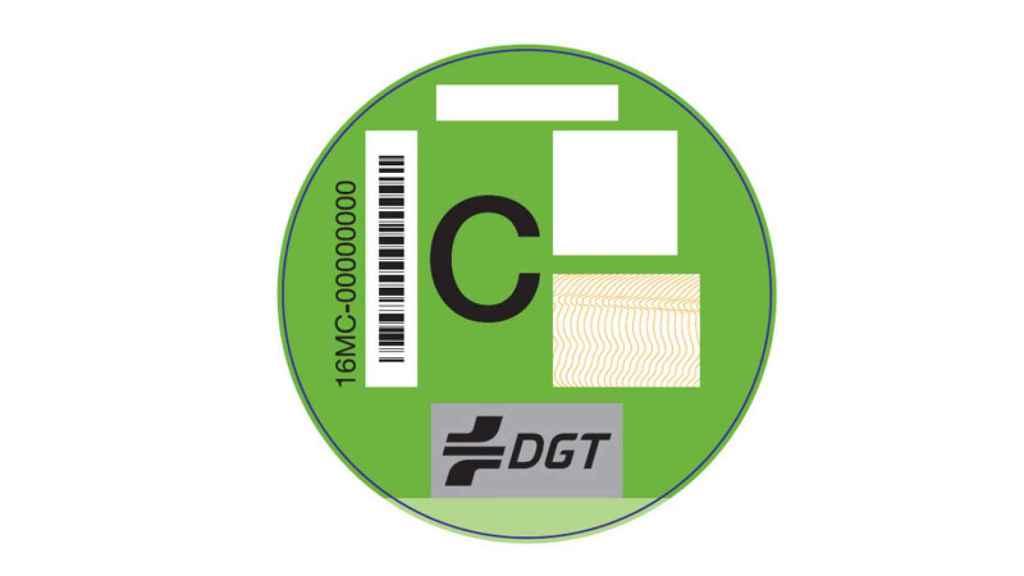Etiqueta C de la DGT.