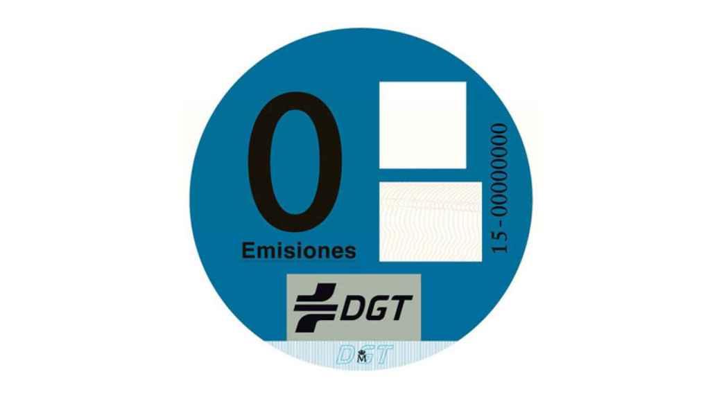 Etiqueta CERO de la DGT.