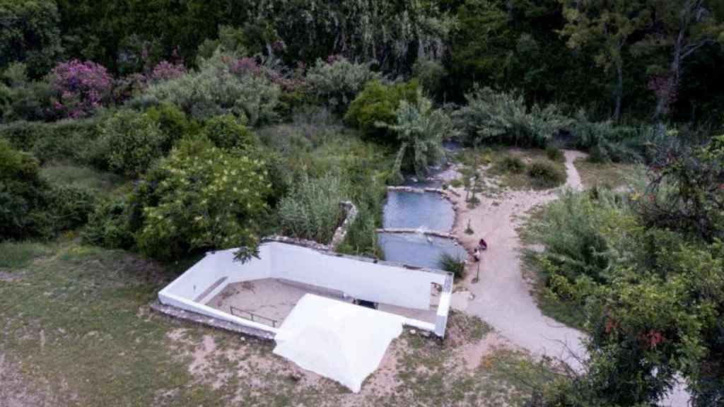 Los baños romanos de la Hedionda están en mitad de un hermoso paraje natural