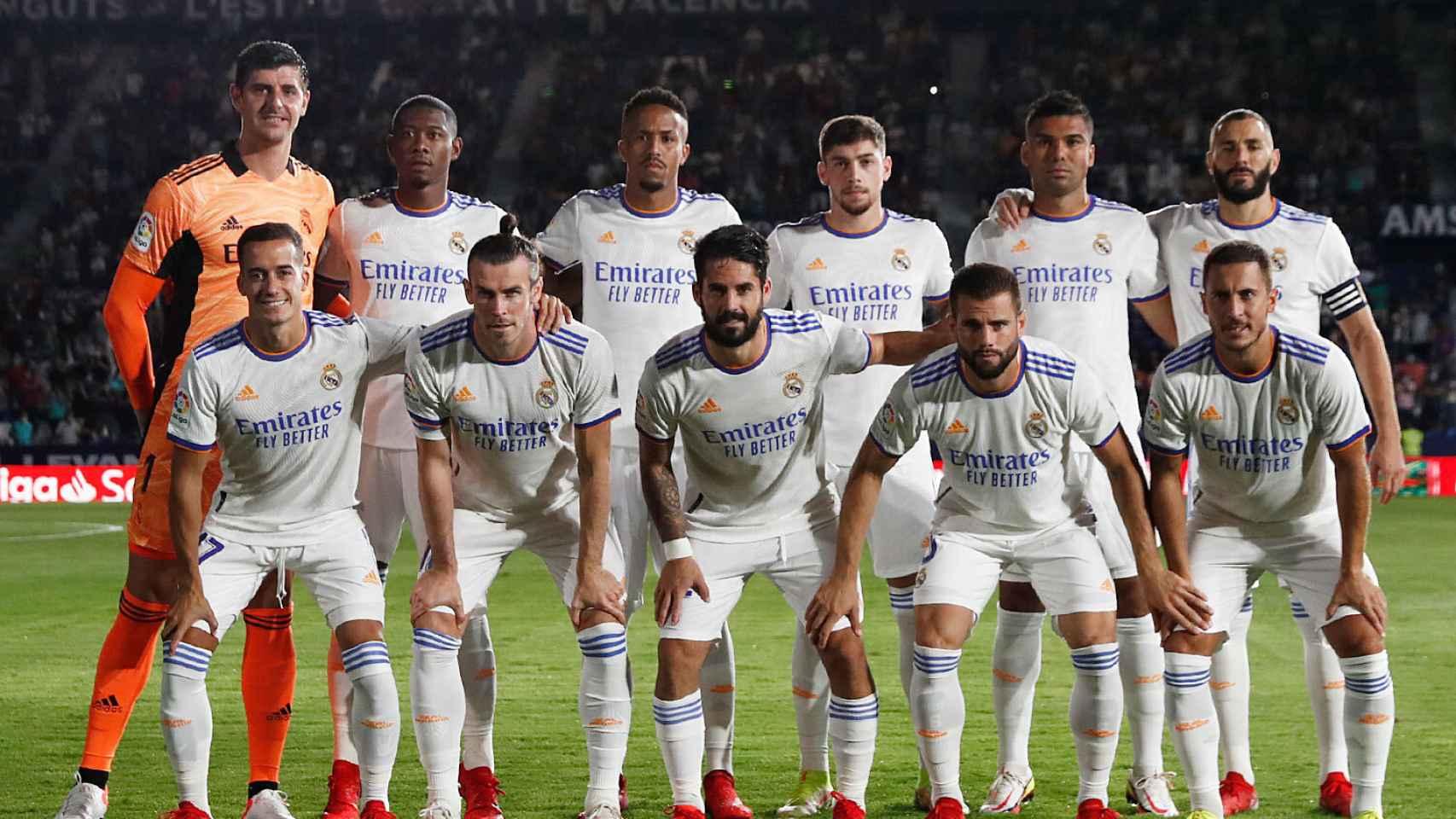 Alineación titular del Real Madrid frente al Levante en la jornada 2 de La Liga
