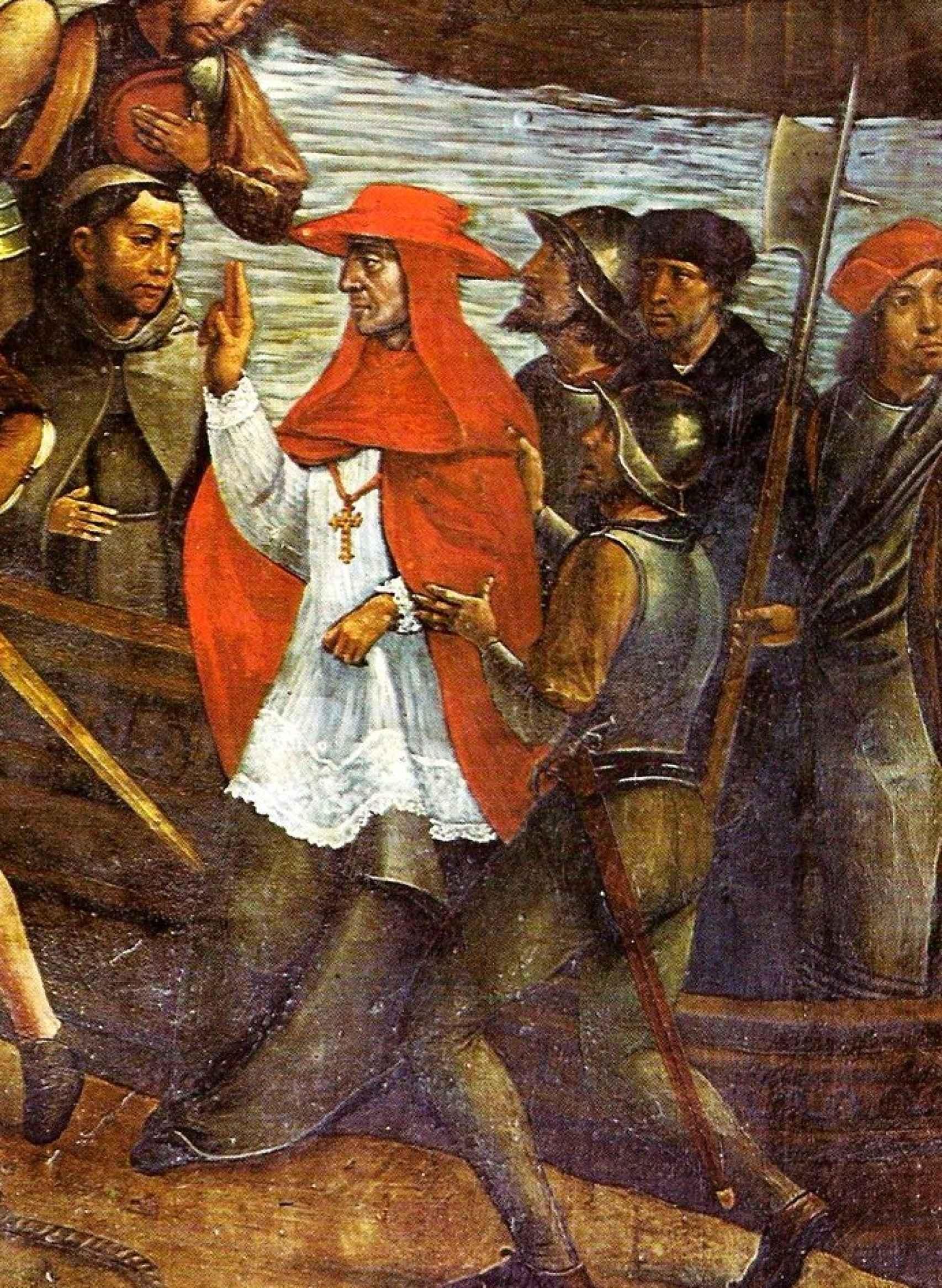 Detalle de la Toma de Orán de Juan de Borgoña.