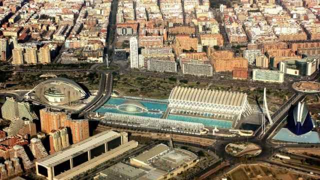 Vista aérea del entorno de la Ciudad de las Artes y las Ciencias de Valencia. FOTO: Pixabay.