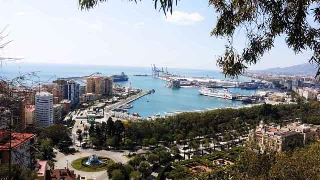 Una vista de la Bahía de Málaga.