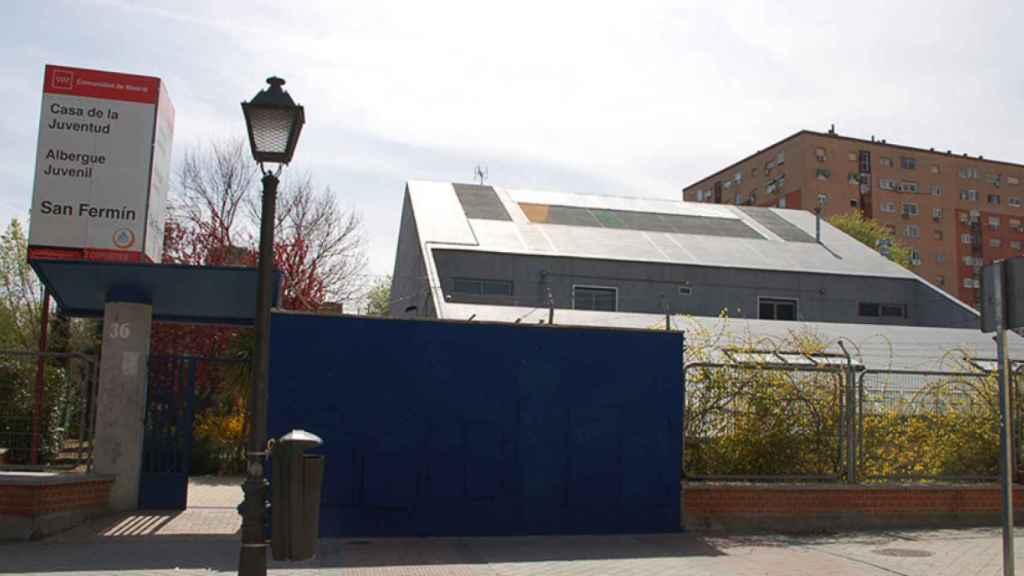 El albergue de la Asociación Proyectos San Fermín, en el barrio de Orcasitas, donde permanecen Hayatullan y su familia.