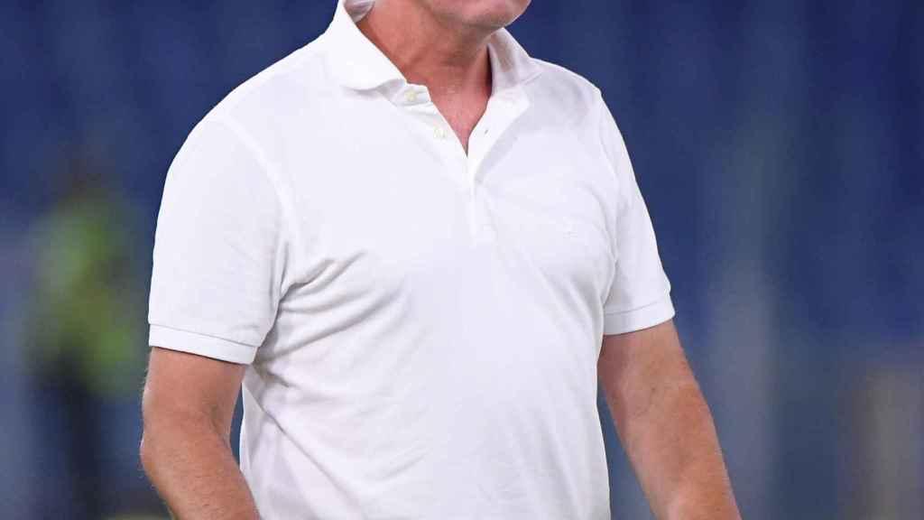José Mourinho, en un partido de la Roma en la temporada 2021/2022
