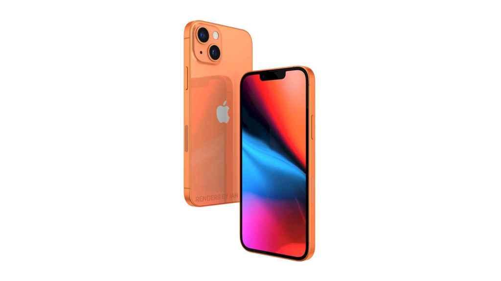 Concepto de iPhone 13 en un nuevo color.