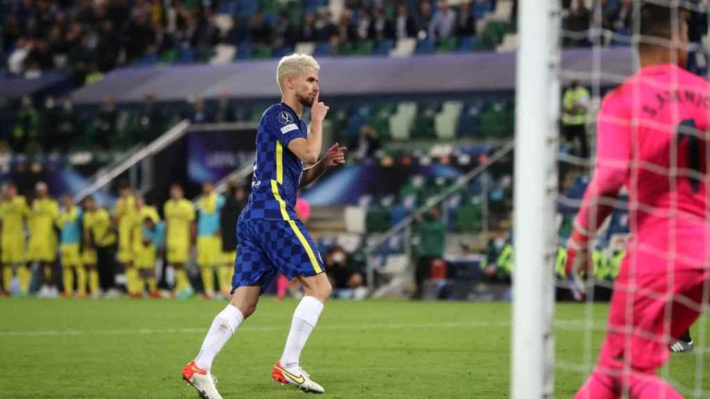 Jorginho, con el Chelsea CF