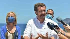 Pablo Casado, este jueves en Canarias.