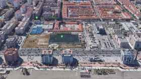 Vista de la parcela de calle Pacífico propiedad de la Seguridad Social.