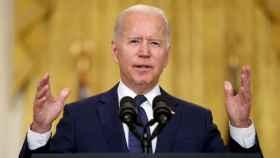 Joe Biden, presidente de Estados Unidos, durante una comparecencia ante los medios en la Casa Blanca.