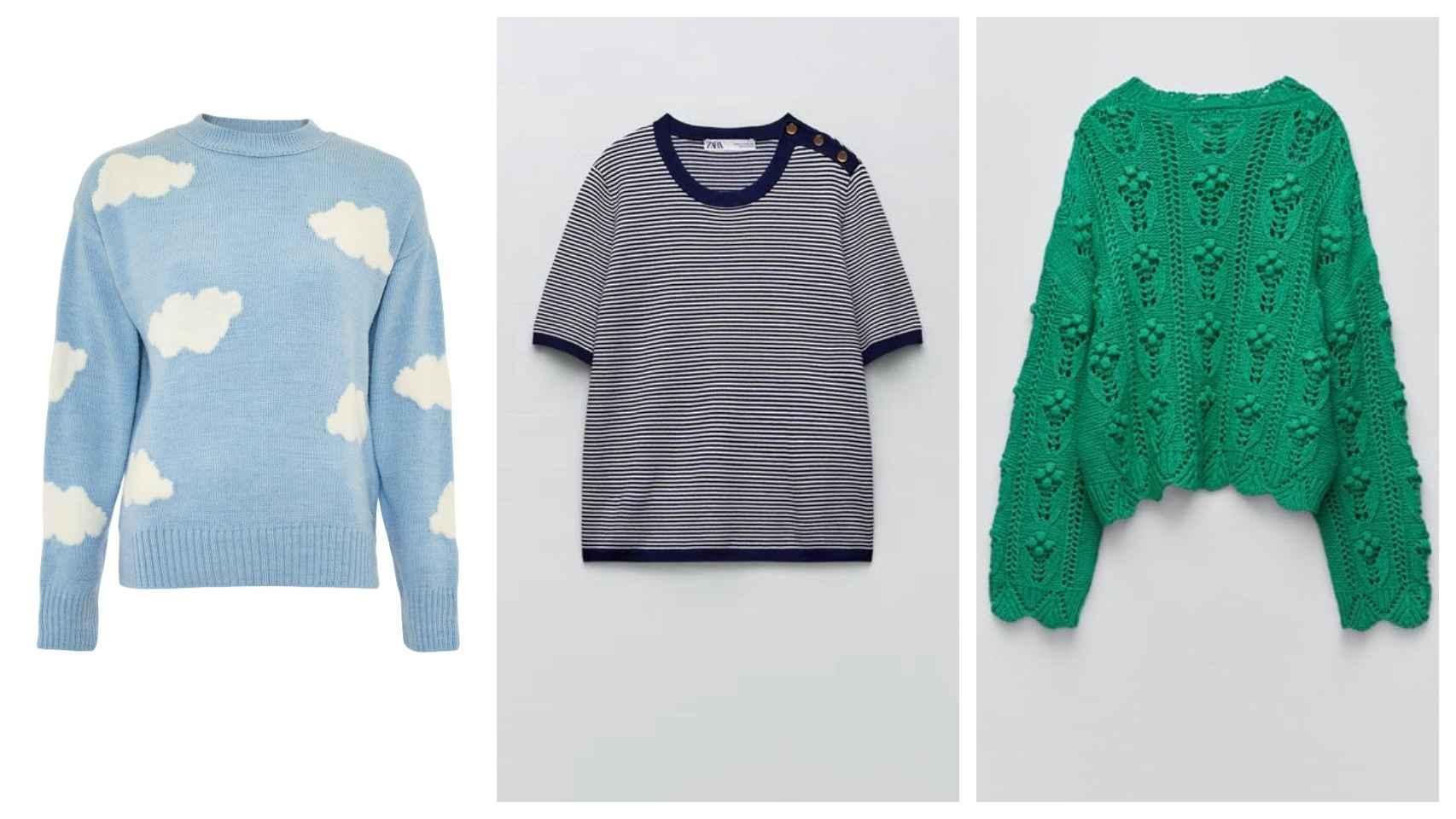 Tres jerséis para usar a principios de otoño.