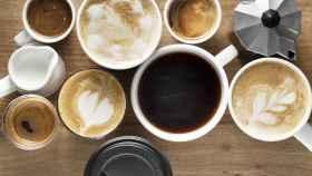 Tazas de café. Imagen de archivo.