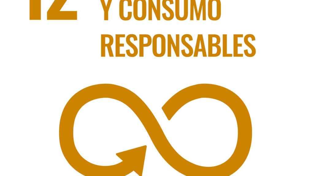 Cartel del Objetivo de Desarrollo Sostenible número 12 de la ONU