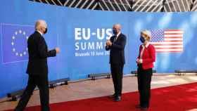 Ursula von der Leyen y Charles Michel acogieron con entusiasmo a Joe Biden durante su visita a Bruselas en junio
