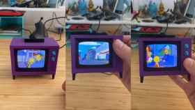 Un mini televisor de Los Simpson totalmente funcional.
