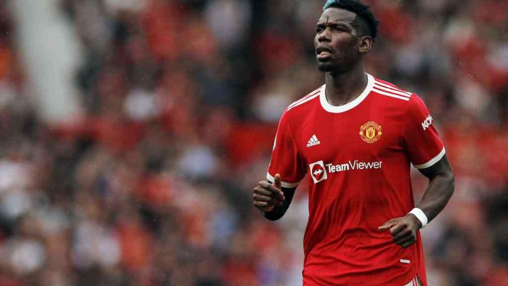 Paul Pogba, en un partido del Manchester United en la temporada 2021/2022