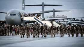 Militares del Ejército alemán en Wunstorf, Alemania, tras su llegada de Kabul.