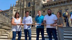 Miembros de Nuevas Generaciones en Santiago de Compostela