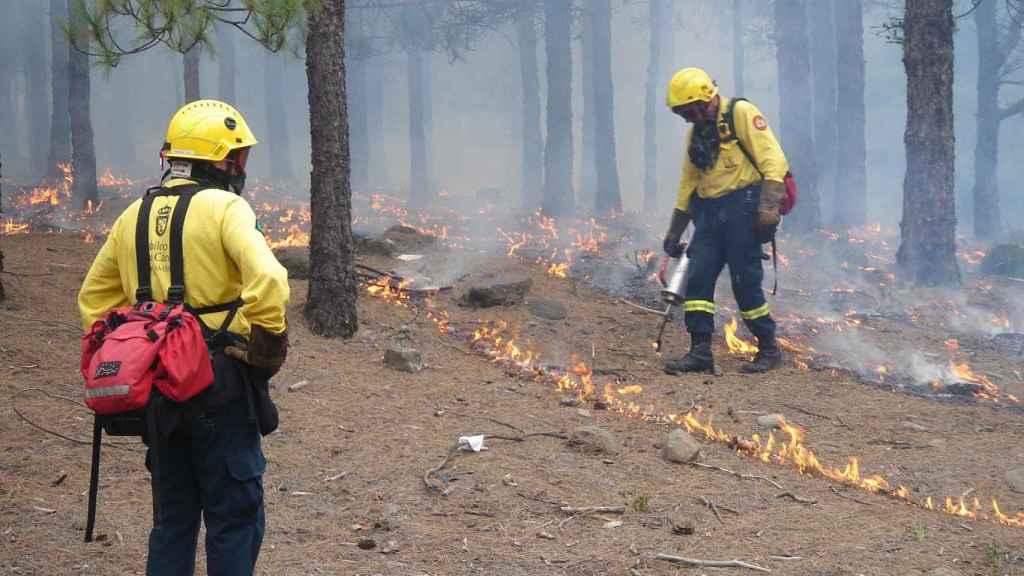 Incendio en España.