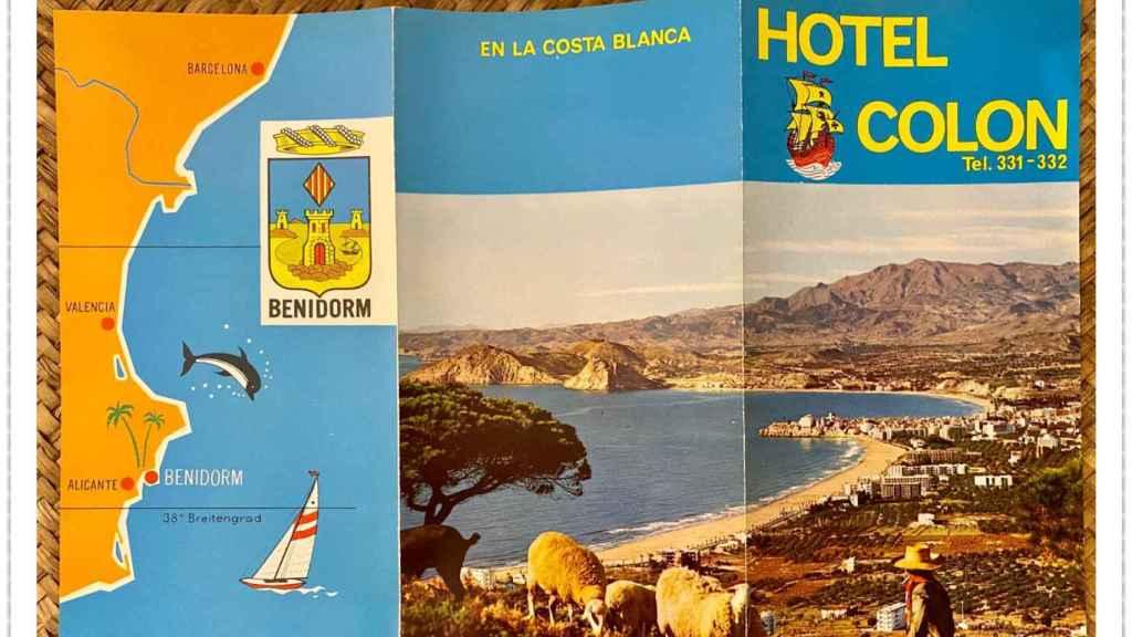 Un antiguo folleto del hotel Colón en Benidorm.