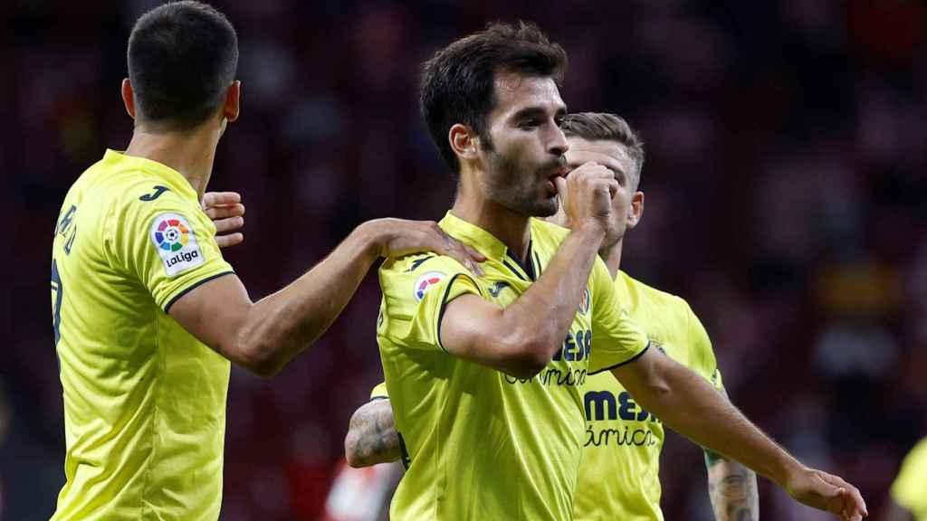 Manu Trigueros celebra un gol ante el Atlético de Madrid