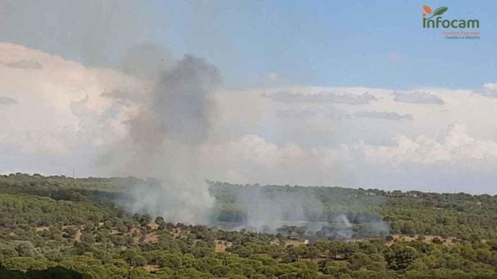 Una imagen del incendio publicada por Infocam