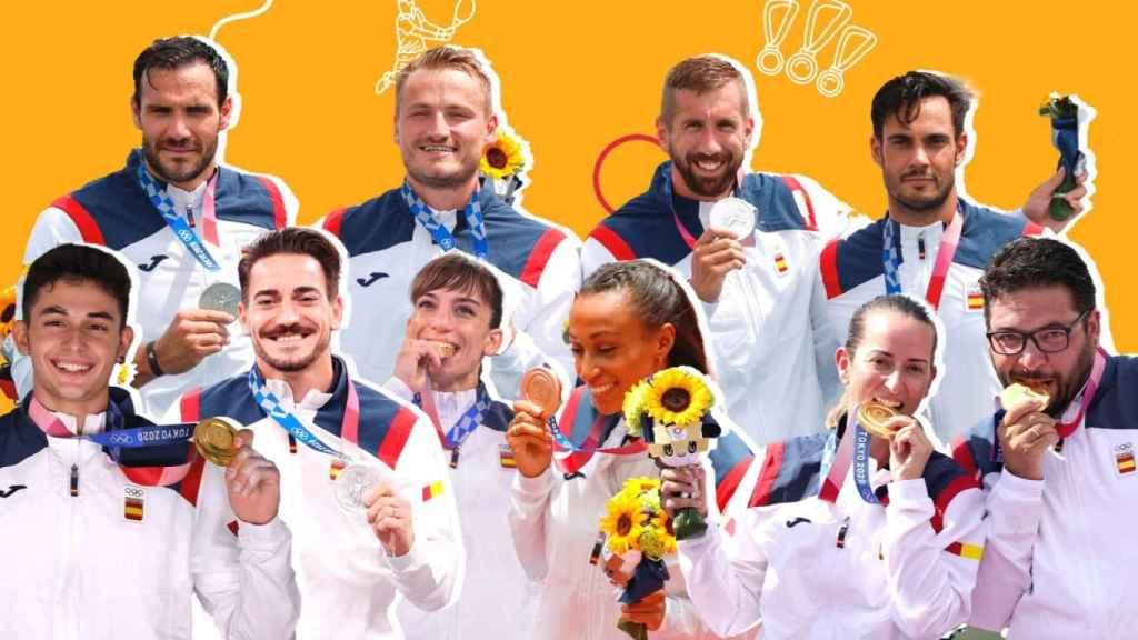 Los medallistas de España en los JJ.OO. de Tokio.