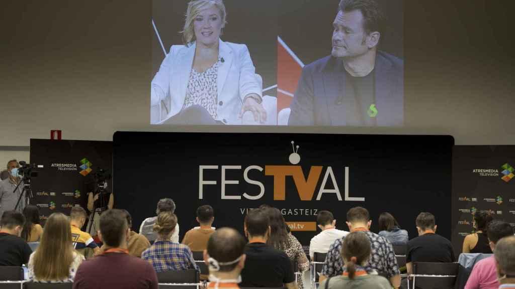 Atresmedia ha presentado 'Más vale tarde' en el Festival de Televisión de Vitoria.