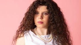 Carla Vigo en su primera sesión de fotos como modelo.