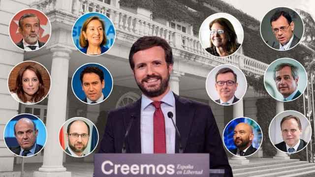 Pablo Casado y su Consejo de Ministros en la sombra.