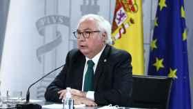 Manuel Castells, ministro de Universidades, durante una rueda de prensa del Consejo de Ministros.