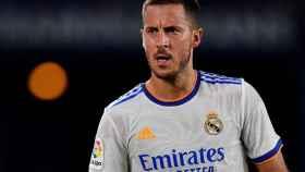 Eden Hazard, durante un partido con el Real Madrid