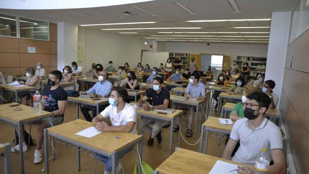 Los participantes en el curso de formación para los mentores (Fotos: UCLM)