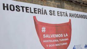 Cartel de una manifestación de hosteleros en Toledo