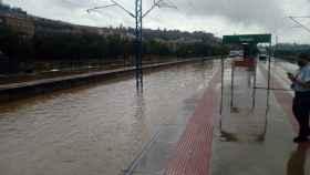 Imagen de las vías en la estación de Toledo. Foto: ADIF