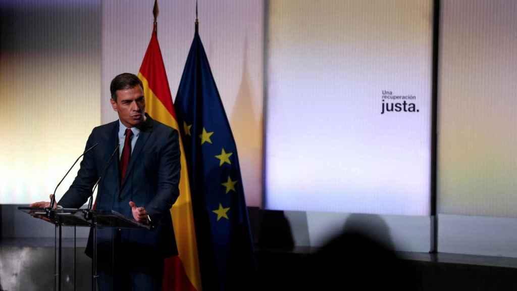 Pedro Sánchez en la Casa de América el 1 de septiembre de 2021.
