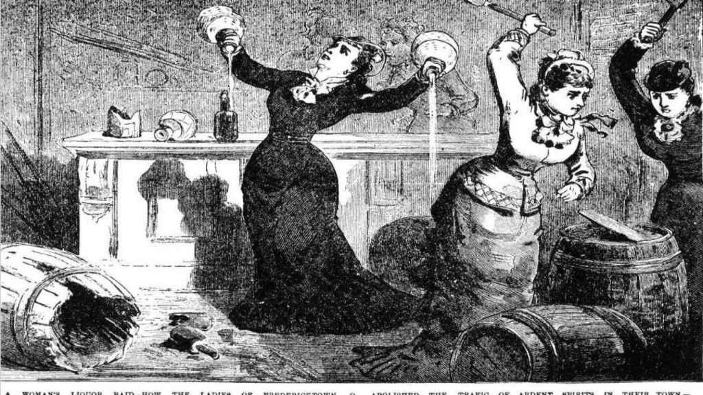 """""""Cómo las mujeres de Fredericktown (Ohio) abolieron el tráfico de bebidas espirituosas en su ciudad"""""""