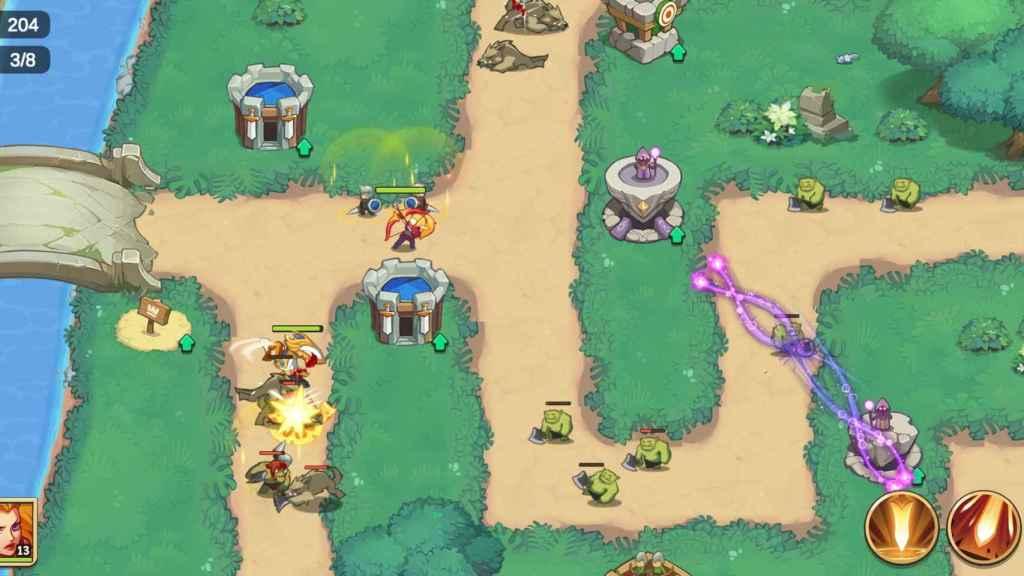 Captura jugando al Empire Defender