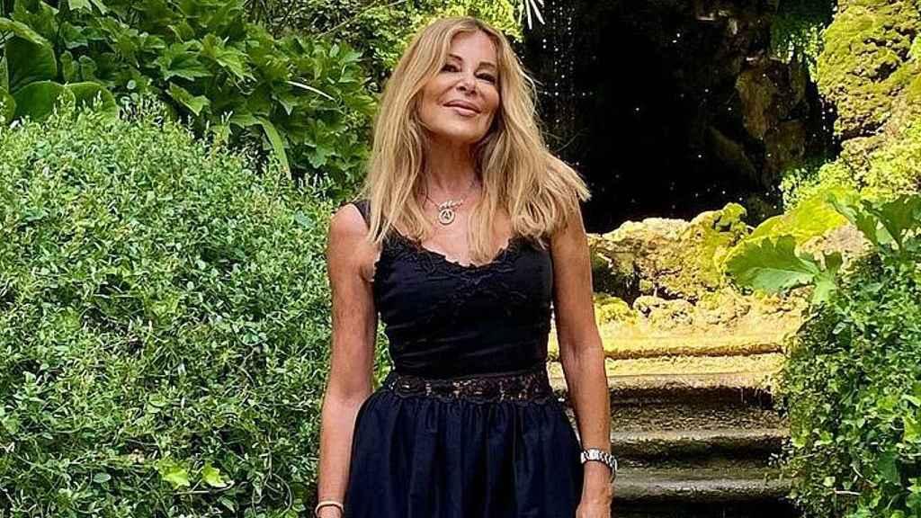 Ana Obregón, durante sus vacaciones en Roma.