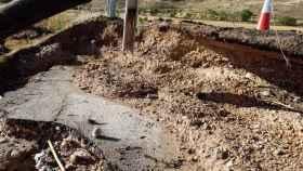Destrozos en la GU-249. Foto: Diputación de Guadalajara