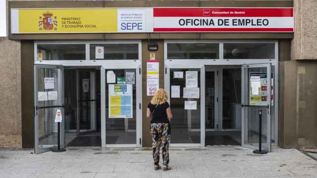 Una oficina de empleo, en Madrid.