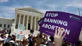 Imagen de archivo de las protestas contra las restricciones al aborto en EEUU.