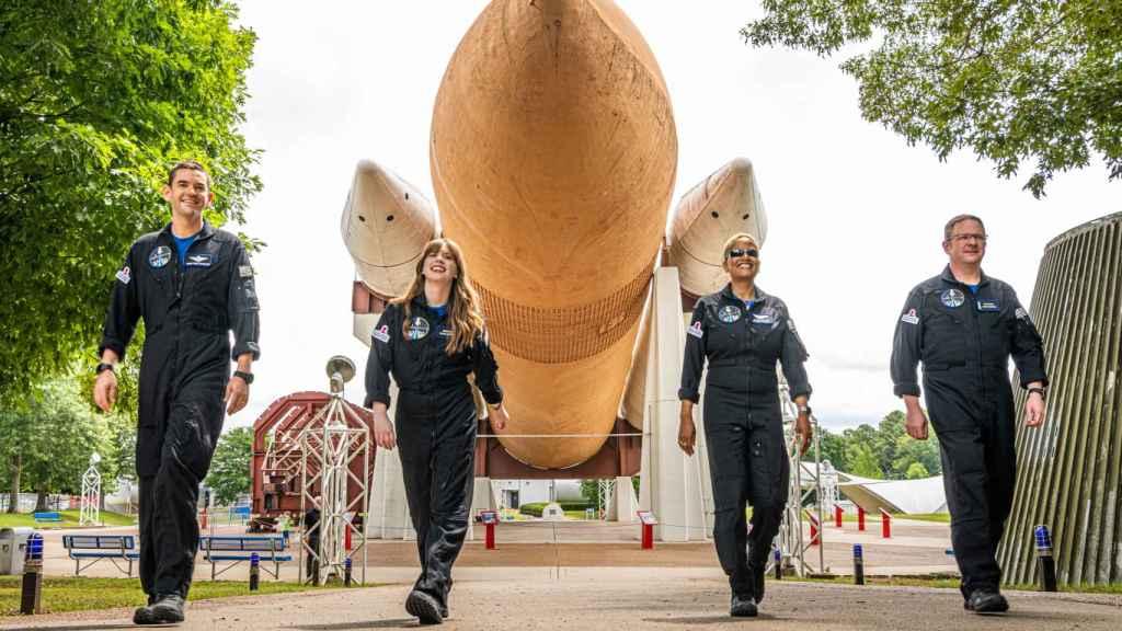 Astronautas de la misión Inspiration4