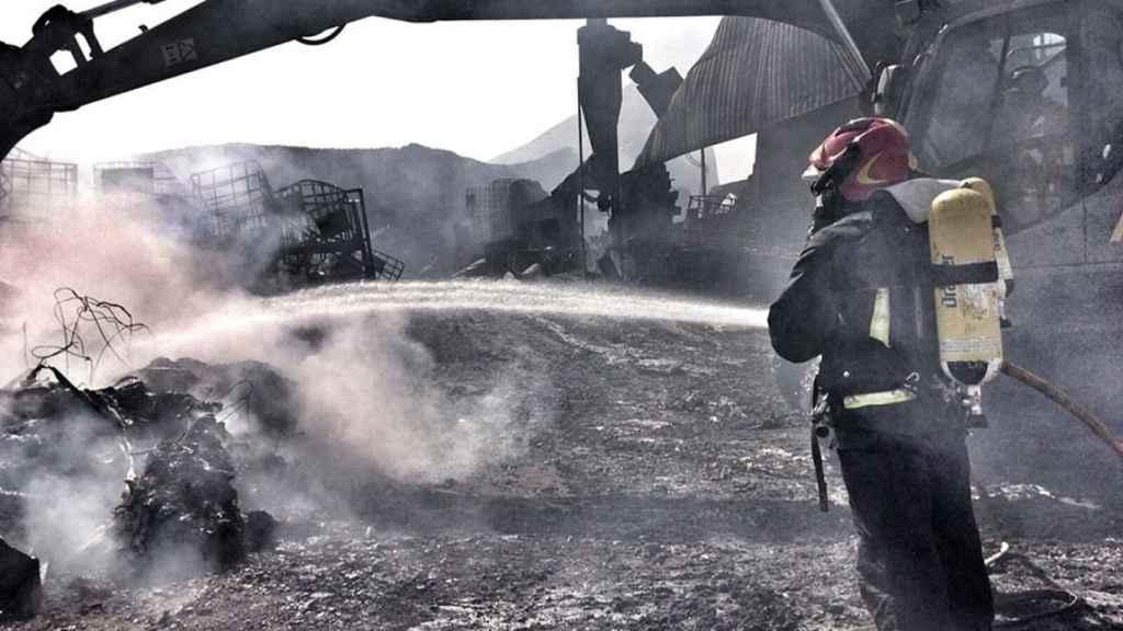 Incendio de Chiloeches. Imagen de archivo