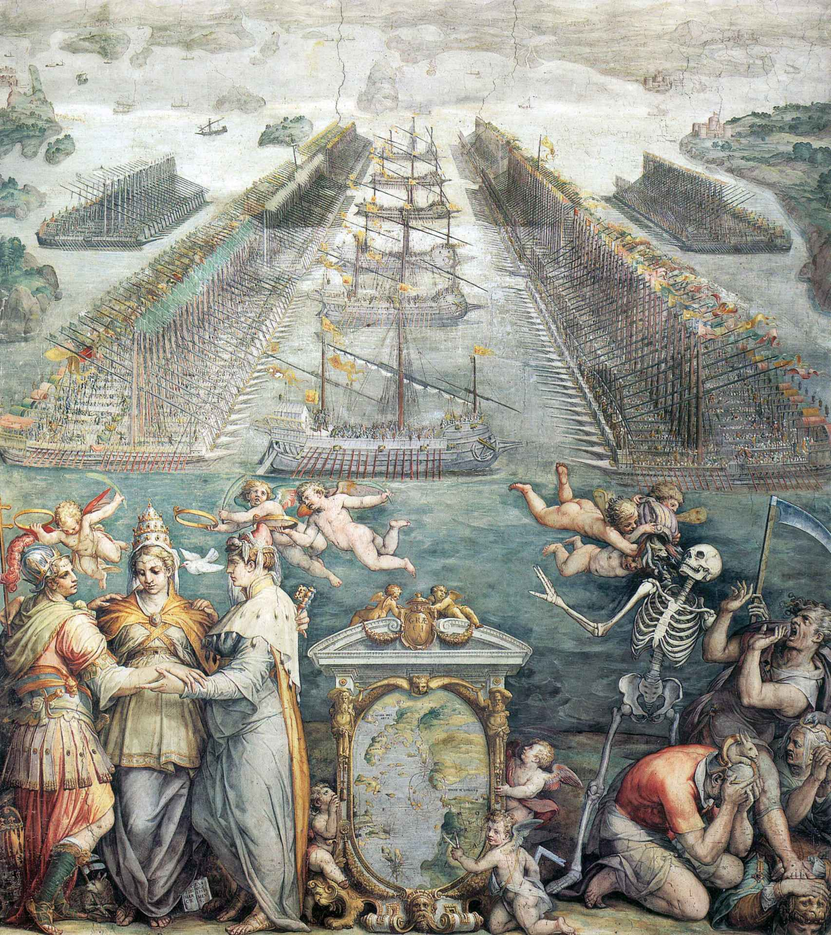 La batalla de Lepanto vista por el pincel de Giorgio Vasari.