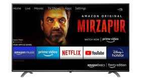 Modelo de televisor de Amaon vendido en la India