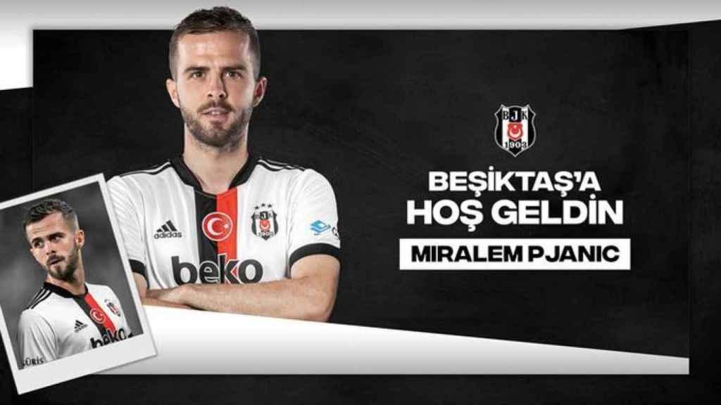 El anuncio del Besiktas de la cesión de Miralem Pjanic