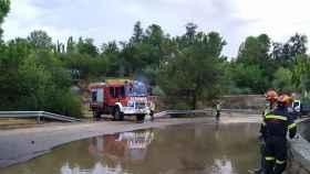 Actuación de los bomberos en Toledo durante el temporal