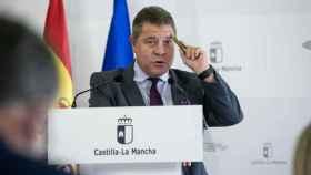 Emiliano García-Page, presidente de Castilla-La Mancha, este viernes en Toledo (Foto: JCCM)