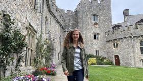La Princesa Leonor, a su llegada al UWC Atlantic College de Gales, donde cursará el Bachillerato Internacional.